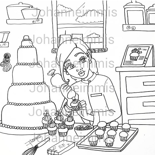 Chef coloring page | Free Printable Coloring Pages | 540x540